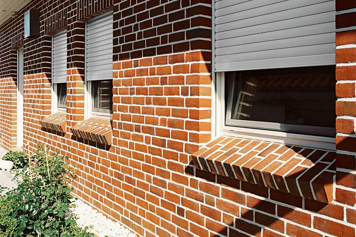 Raffstoren markisen rollladen fassadenmarkisen objektmarkisen verkauf g nter werres - Einbau fenster klinkerfassade ...