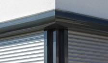 Alulux Aluminium Rollladen an Eckfenster