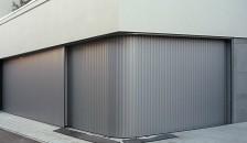 Garagentor Vertico Seitenlauftor in grau