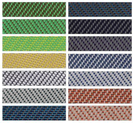 Stoffe für Solidscreen Textilscreens von Alulux