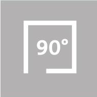 90 Grad Textilscreen Vorbauelement