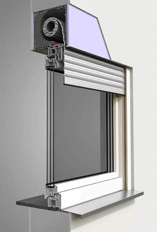Alulux Smarthome Aufsatzrollladensystem