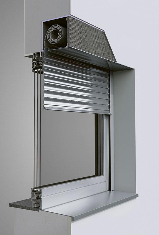 Alulux Smarthome Einbaurollladensystem
