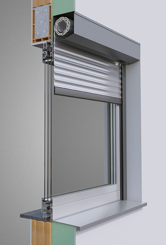 Alulux Smarthome Vorbaurollladensystem